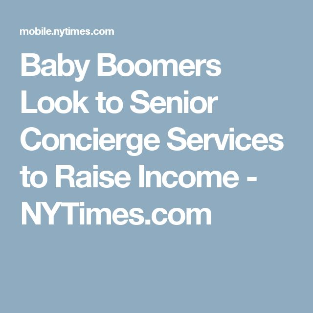 Baby boomers, concierge services, and extracash